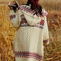 Fashion Double-Sided Straw Hooded Sweater $42.00