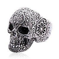 Punk Style Silver Skull Rings for Women