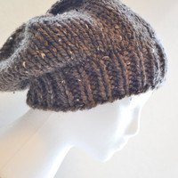 Barley Knit Slouchy Beanie - Ready to Ship - Fall Hat