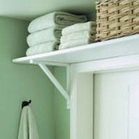 space-saving bathroom door shelf