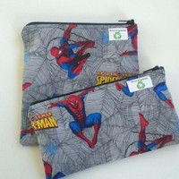 Zipper Snack and Sandwich Bag Set of 2 Spiderman