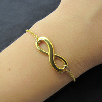 gold infinity wish metal chain bracelet women jewelry bangle bangle 1272A