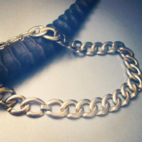 the Sophie -- gold-tone chain-link cuff necklace