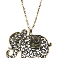 The Elephant's Elegance Necklace | Mod Retro Vintage Necklaces | ModCloth.com