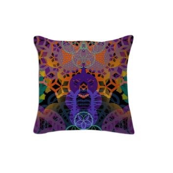 CHEERFUL FLORAL ORNAMENTIC, Pillow 1 created by atelier COLOUR-VISION   Print All Over Me