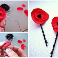 eBook  make your own fabric poppy flower  DIY  PDF by MGMart