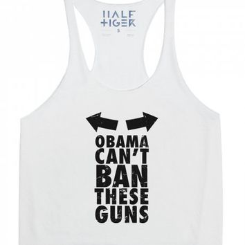 Obama Can't Ban These Guns-Unisex Athletic Grey Tank