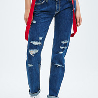 Filles a Papa X Lee Jade Ripped Skinny Jeans in Blue - Urban Outfitters