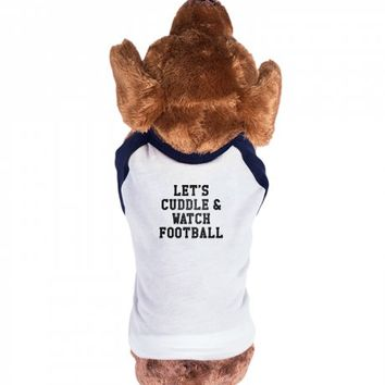 Let's Cuddle and Watch Football-Unisex Heather Grey T-Shirt