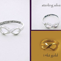 Custom Message Infinity Ring by donnaodesigns