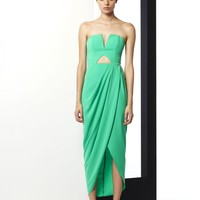 TO THE CORE BUSTIER MAXI WITH CUTOUT