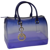 MG Collection KALEY Flirty Doctor Tote Style Jelly Purse Fashion Candy Hand Bag
