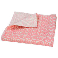 DwellStudio Kids Quilted Organic Mix & Match Play Blanket Filigree Blossom