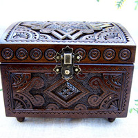 Jewelry box Wooden box Ring box Carved wood box Jewelry boxes Wedding gift Carved wood box Wooden boxes Wood carwing Ring boxes B2