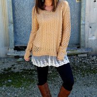Love Me Lace Knit {Mustard}