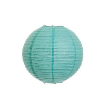 Koyal 10-Inch Paper Lantern, Tiffany Blue, Set of 6