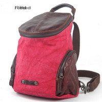 Weird linen round drum street backpack pack for girls from Vintage rugged canvas bags