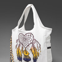 LAUREN MOSHI Heart Dreamcatcher Selena Tote Bag in White at Revolve Clothing - Free Shipping!