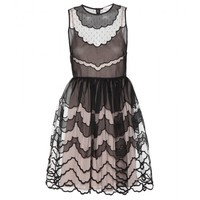 redvalentino - embroidered tulle dress
