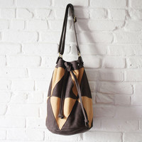 Cheyenne Bucket Tote - Two tone
