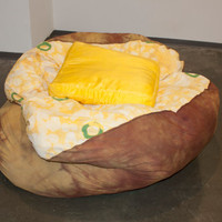 Baked Potato Bean Bag Chair w/ Butter Pillow