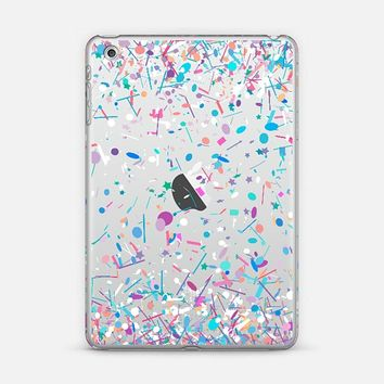 Girly Confetti Explosion Transparent iPad Mini 1/2/3 case by Organic Saturation | Casetify