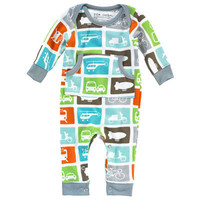 DwellStudio Kids Layette Longsleeve PlaySuit Transportation Multi