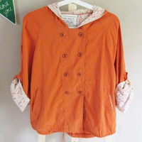 Orange Lace Trench Coat$44.00