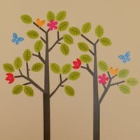 Kids' Wall Decals & Wallpaper: Kids Tree Reusable Wall Decal Stick Ons