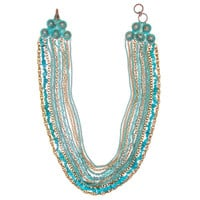 Turq + Patina Multi Strand Bib Necklace