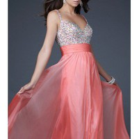 Chiffon Sweetheart Neckline Column Prom Dress