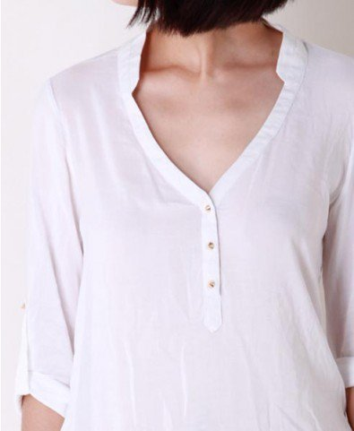 V Neckline Blouses with Spike Buttons
