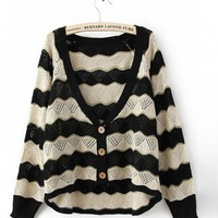 Product search_Bat Stripes Loose Sweater_udobuy - Fashion Dress with Free Shipping