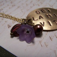 Sei La Mia Vita You Are My Life Necklace by EmilinaBallerina