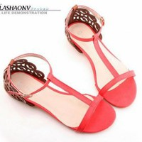 Discount China  Retro T Belt Buckle Cloud Carve Flat Sandal GSL-AC100-54R [GSL-AC100-54] - US$14.19 : Fashion Ladies Shoes&Bags Wholesale Online at Egogog.com