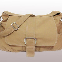 Brown Canvas Bag, handheld bag, shoulder bag, messenger bagr