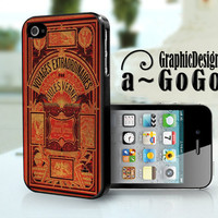 iPhone 4/4s case,Jules Verne Les Voyages Extraordinaires design, custom cell phone case