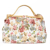 Floral Bamboo Side Bag