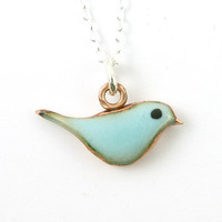 Fat Little Blue Bird Necklace No. 3