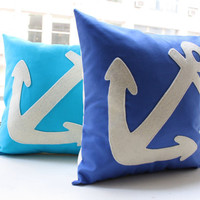 Anchor Pillow - 12 inch square