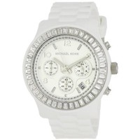 Michael Kors Women's MK5396 Glitz Classic Chronograph White Watch - designer shoes, handbags, jewelry, watches, and fashion accessories | endless.com