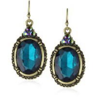 Amazon.com: 1928 Jewelry Victorian Peacock Turquoise Gem Earrings: Jewelry