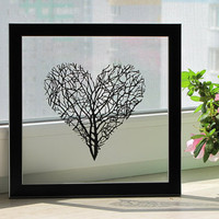 Branches Heart Handmade Original Papercut First Anniversary Gift: Hand-Cut Paper Art Silhouette