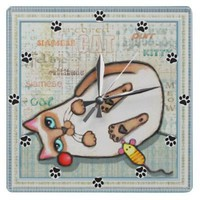 Siamese Cat Lover Wall Clock from Zazzle.com