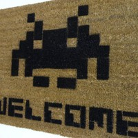 ATARI Space Invaders Welcome mat | Damn Good Doormats