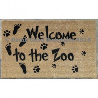 Welcome to the Zoo- front door doormat door mat | Damn Good Doormats