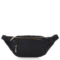 Quilted Bumbag - Black