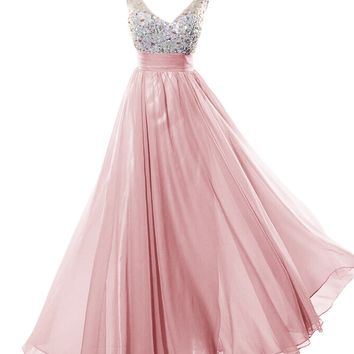 Dresstells Long Prom Dress with Beads Bridesmaid Dress Graduation Dress