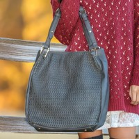 Woven With Joy Bag-Charcoal