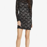 BLACK LACE OPEN BACK SHEATH DRESS from EXPRESS